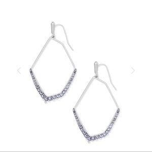 Kendra Scott Nell earrings in silver and lilac